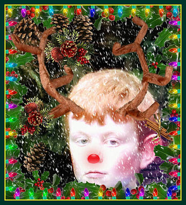 December Faun Print by Mindy Newman