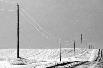 Black And White Photograph - December Drive by Todd Klassy