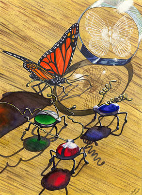 Paperweight Painting - Deception by Catherine G McElroy