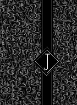 Deco Jazz Swing Monogram ...letter J Print by Cecely Bloom