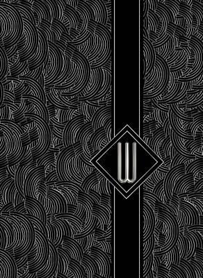 Black Top Digital Art - Deco Jazz Swing Monogram ...letter W by Cecely Bloom