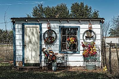 Rag Doll Photograph - Decorated Garden Shed by Mountain Dreams