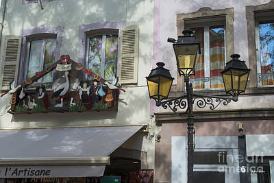 Vineyards Of Alsace Photograph - Decoration Of Window In Colmar by Yefim Bam