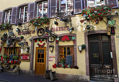 Vineyards Of Alsace Photograph - Decoration Of Windows In Colmar by Yefim Bam
