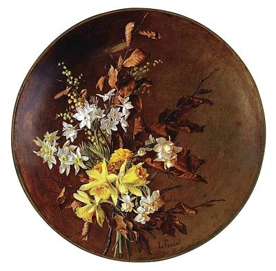 Decorative Bouquets Of Flowers Print by Emilie Gade