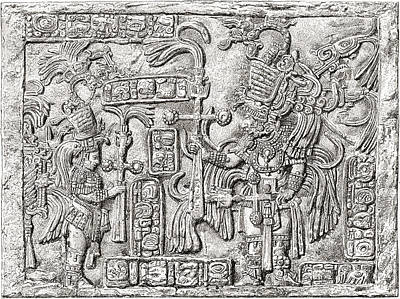Ancient Civilization Drawing - Decorative Lintel From The Ancient by Vintage Design Pics