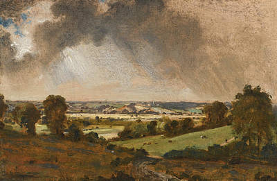 John Constable Painting - Dedham Vale. View To Langham Church From The Fields Just East Of Vale Farm East Bergholt by John Constable