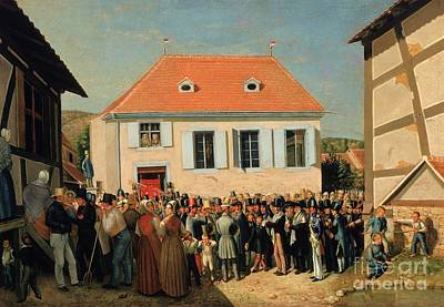 Synagogue Painting - Dedication Of A Synagogue In Alsace' by Celestial Images