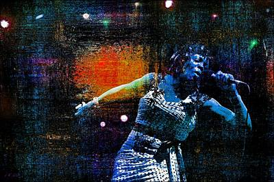Songstress Digital Art - Dee Dee Bridgewater 3 by Jean Francois Gil