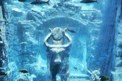 Aquatic Digital Art - Deep Atlantis - Da by Leonardo Digenio