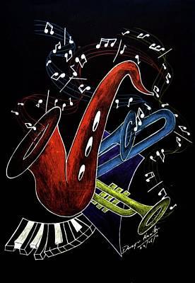 Night Angel Painting - Deep Blues  by Dwayne  Hamilton
