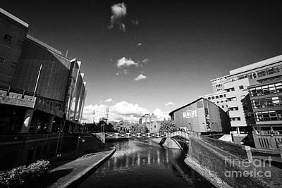 Deep Cutting Section Of Oozells Street Loop Area Birmingham Canal Navigations Brindleys Old Main Lin Print by Joe Fox