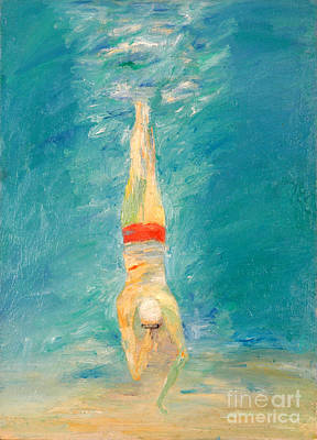Free Form Painting - Deep Dive by Lisa Baack