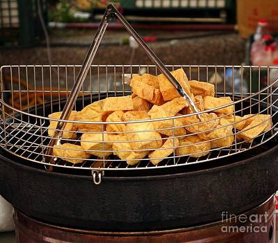 Deep Fried Stinky Tofu Print by Yali Shi