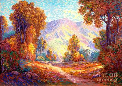 Park Scene Painting - Radiant Peace, Colors Of Fall by Jane Small