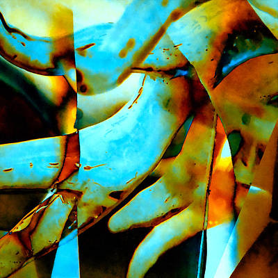 Alga Mixed Media - Deep-sea Corals - Abstract by Stacey Chiew