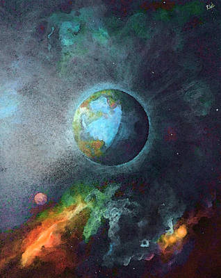 Deep Space Planet Of The Final Frontier Print by Art by Ela