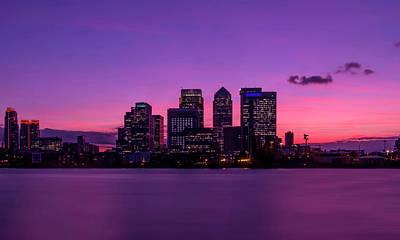 London Skyline Photograph - Deepest Purple by Anthony Mitchell