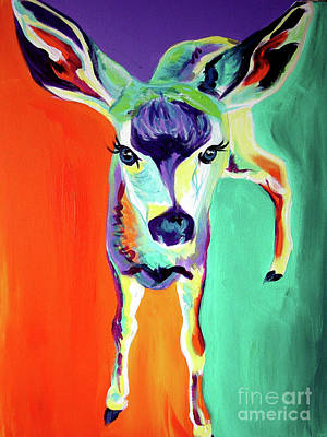 Deer - Fawn Print by Alicia VanNoy Call