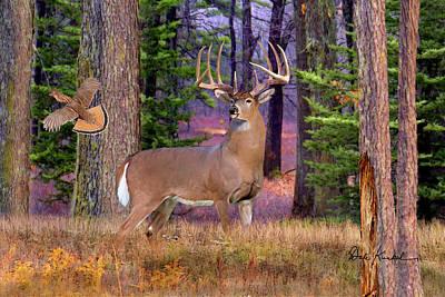 Deer Art - Northwoods Whitetails Print by Dale Kunkel Art