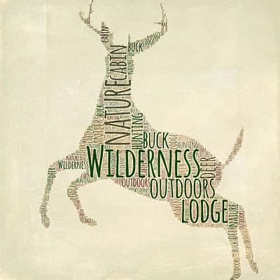 Deer Mixed Media - Deer Leaping by Brandi Fitzgerald