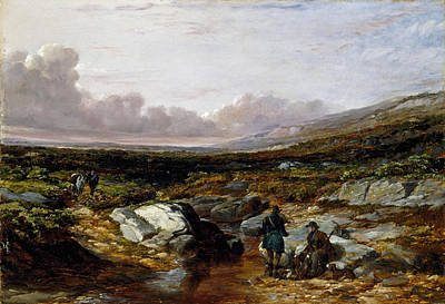 Arthur Fitzwilliam Tait Painting - Deer Stalking In Scotland. Getting Ready by Arthur Fitzwilliam Tait