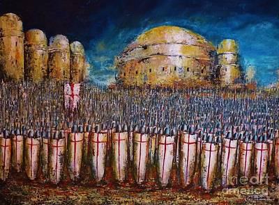Defence Of Jerusalem Print by Kaye Miller-Dewing