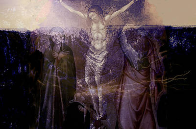 Jesus The King Mixed Media - Defenders Of The Faith...after Vanni by Paul Sutcliffe