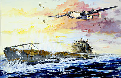 Coastal Drawing - Defending The Coast by Charles Taylor