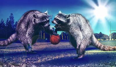 Raccoon Photograph - Defense by Jonny Lindner