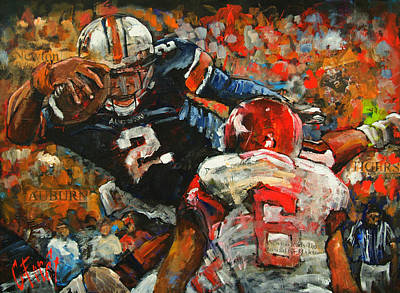 Auburn Painting - Defying Gravity by Carole Foret