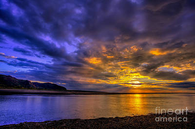 Estuary Photograph - Deganwy Sunset by Adrian Evans
