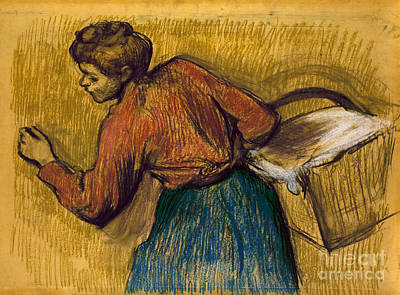 Of Edgar Degas Photograph - Degas: Laundress, C1888-92 by Granger