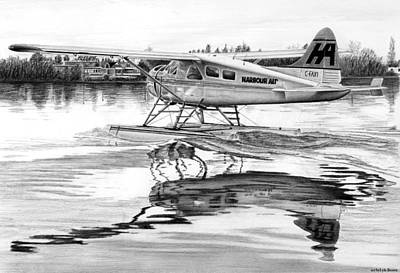 Beaver Drawing - Dehavilland Beaver by Lyle Brown