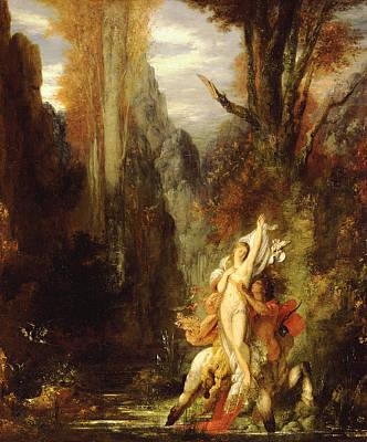 Centaur Painting - Dejanira  Autumn by Gustave Moreau