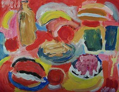 Hamburger Painting - Dejavu by Jay Manne-Crusoe