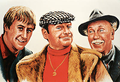 Del Boy Rodney And Grandad Print by Andrew Read