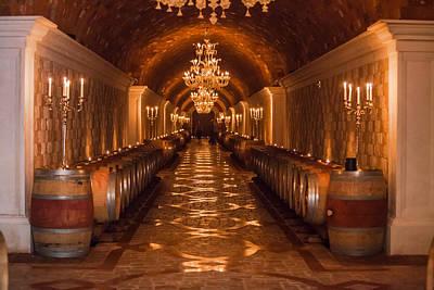 Del Dotto Wine Cellar Print by Scott Campbell