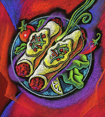 Lettuce Painting - Delicious Anchilada by Leon Zernitsky