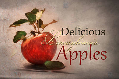 Digital Art - Delicious Pa Apples by Lori Deiter
