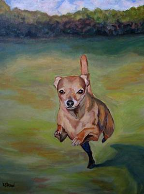 Dog Portrait Painting - Delilah by Kellie Straw