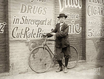 Drugstores Photograph - Delivery Boy, 1913 by Granger