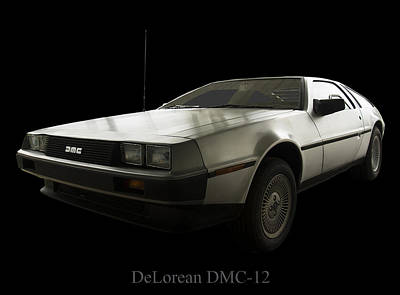 Delorean Dmc 12 Print by Chris Flees