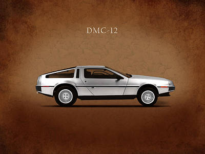 Delorean Dmc-12 Print by Mark Rogan