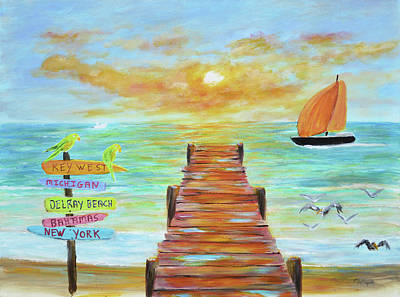 Lighthouse Painting - Delray Beach Florida by Ken Figurski