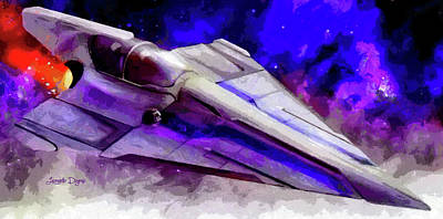 Outer Space Painting - Delta-12 Skysprite - Free Style by Leonardo Digenio