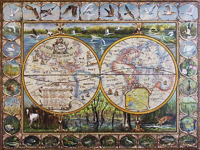 Delta Danube Map Original by Vali Irina Ciobanu
