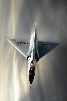 Dramatic Digital Art - Delta Dart F-106 by Peter Chilelli