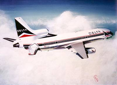 Airliners Painting - Delta  by Peter Ring