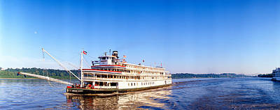 Delta Queen Steamboat On Mississippi Print by Panoramic Images